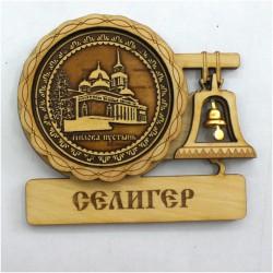 """Магнит из бересты с колоколом """"Богоявленский собор"""" Нилова пустынь"""