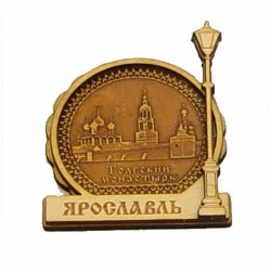 """Магнит из бересты фонарь """"Толгский монастырь"""" Ярославль"""