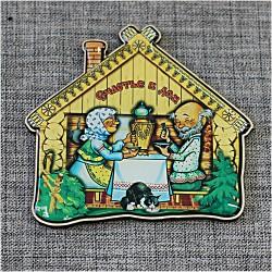 """Магнит домик """"Счастья в дом """" (бабушка с дедушкой)"""