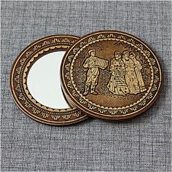 """Зеркало круглое """"Баянист"""""""