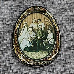 """Магнитное укр. яйцо """"Царская семья"""""""