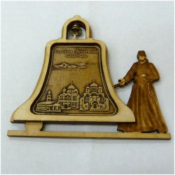 """Магнитное укр. монах с колоколом """"Три собора"""""""