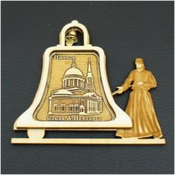 """Магнитное укр. монах с колоколом""""Собор Александра Невского"""""""