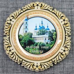 """Магнитное укр. круг.снежинка """"Спасский собор"""""""