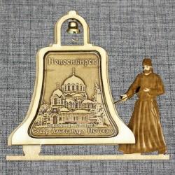 """Магнитное укр. монах с колоколом """"Собор А.Невского"""""""