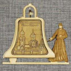 """Магнитное укр. монах с колокольчиком """"Мужской монастырь Иоанна Предтечи"""""""