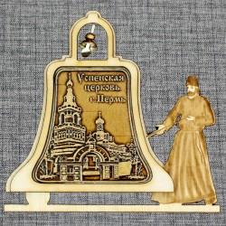 """Магнитное укр. монах с колоколом """"Успенская церковь"""""""
