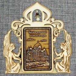 """Магнитное укр. прям.ангелы с колокольчиком """"Белогорский монастырь"""""""
