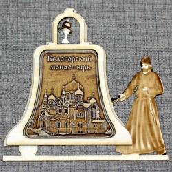 """Магнитное укр. монах с колоколом """"Белогорский монастырь"""""""