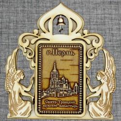 """Магнитное укр. прям.ангелы с колокольчиком """"Свято-Троицкий мужской монастырь"""""""