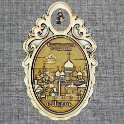 """Магнитное укр. овал с колокольчиком """"Богоявленский мужской монастырь"""""""