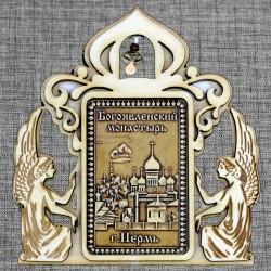 """Магнитное укр. прям.ангелы с колокольчиком """"Богоявленский мужской монастырь"""""""