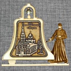 """Магнитное укр. монах с колоколом """"Храм Вознесения Господня"""""""