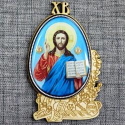 """Магнитное укр. яйцо.верба ХВ""""Иисус"""""""