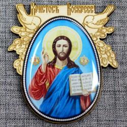 """Магнитное укр. яйцо.птицы ХВ""""Иисус"""""""