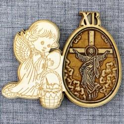 """Магнитное укр.яйцо.ангел ХВ""""Иисус"""""""