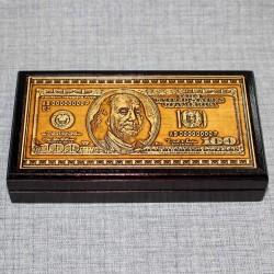 """Шкатулка под купюры """"Доллар"""""""