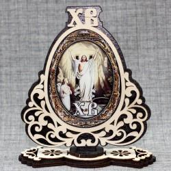 "Молитва на подставке (смола) ХВ ""Иисус+Отче наш"""