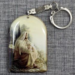 """Брелок с молитвой """"Научение"""" Иисус"""