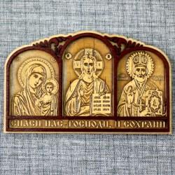 Триптих для водителя (3 иконы) на скотче