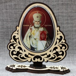 """Молитва на подставке (смола) """"Н.ЧУдотворец+Св.Н.С."""""""