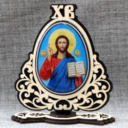 "Молитва на подставке (смола) ХВ ""Иисус+Отче наш"" (лик)"