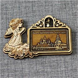 """Магнит из бересты  рождественский ангел с колокльчиком """"Свято-Боголюбский монастырь"""""""