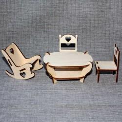 Набор (стол, 2стула, кресло-качалка)