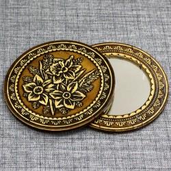 """Зеркало круглое """"Нарциссы"""""""