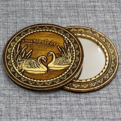 """Зеркало круглое """"Лебеди"""""""