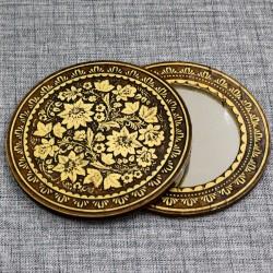 """Зеркало круглое """"Цветы"""" (хохлома)"""