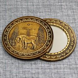 """Зеркало круглое """"Лошади"""""""