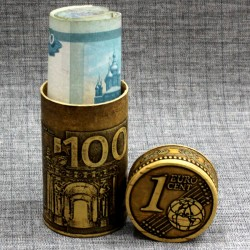 """Тубус под деньги """"Евро"""""""