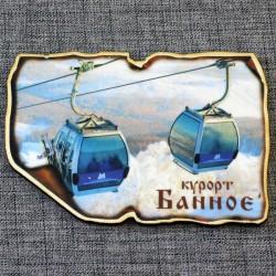 """Магнит """"Кабинки"""" (зимой) 5 вар. курорт Банное"""