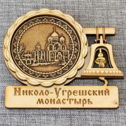 """Магнит из бересты с колоколом """"Николо-Угрешский монастырь"""""""
