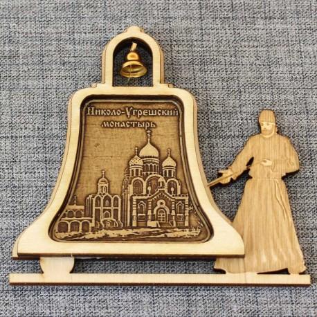 """Магнитное укр. монах с колоколом """"Николо-Угрешский монастырь"""""""