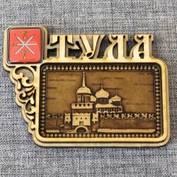 """Магнит из бересты смола герб """"Кремль"""""""
