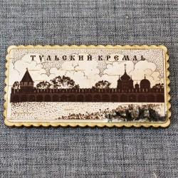 """Магнит из бересты прямоуголный """"Храм"""""""