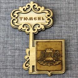 """Магнит из бересты ключ """"Герб"""""""