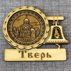 """Магнит из бересты с колоколом """"Церковь М.Тверского"""""""