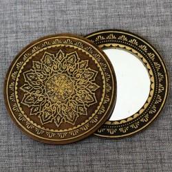 Зеркало круглое (узор)