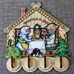 "Ключница домик (4) ""Счастье в дом"" (бабушка+дедушка)"