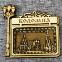 """Магнит из бересты фонарь горизонтальный """"Коломенский кремль"""""""