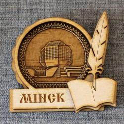 """Магнит из бересты книга """"Библиотека"""" . Минск"""