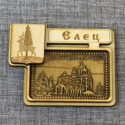 """Магнит из бересты герб """"Вознесенский собор"""""""