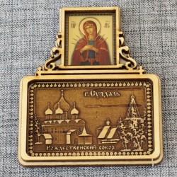 """Магнит из бересты прямоугольный икона (Семистрельная)""""Рождественский собор"""""""