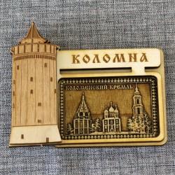 """Магнит из берестыпрямоугольный башня """"Коломенский кремль"""""""