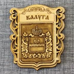 """Магнит из бересты """"Герб"""" Калужская область"""