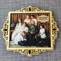 """Молитва портрет """"Царская семья"""" с молитвой Св. Ц. Стр."""