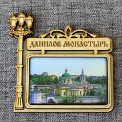 """Магнит из смолы прямоугольный фонарь """"Данилов монастырь"""""""